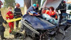 Accident rutier pe DJ 222K. FOTO ISU Tulcea