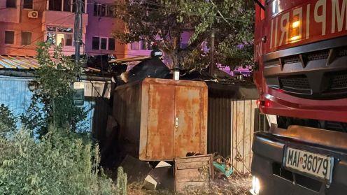 Incendiu într-un bar din municipiul Tulcea. FOTO ISU Tulcea