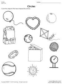 Finding Circles Worksheet
