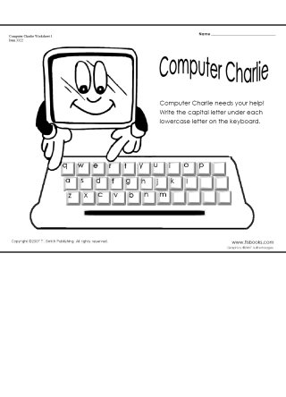 Computer Charlie Worksheets 1 and 2