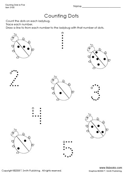 Counting Dots to 5