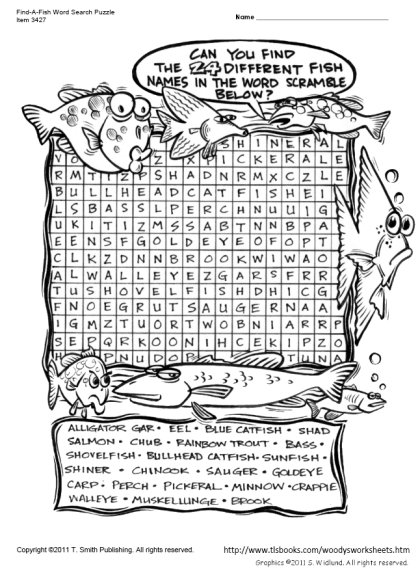 Find-A-Fish Word Search Puzzle