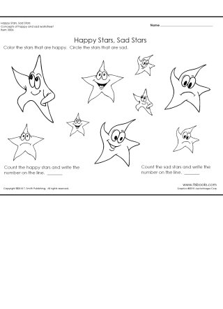 Happy and Sad Stars Worksheet