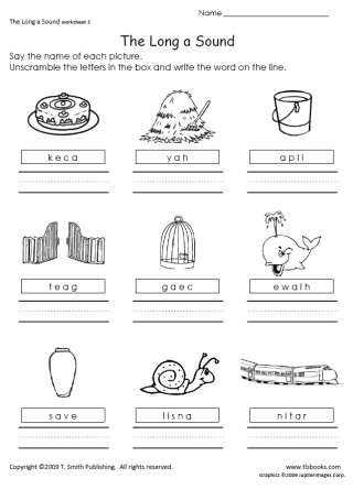 The Long A Sound Worksheets 1-3