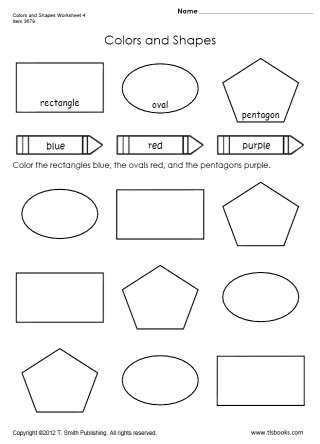 Colors and Shapes Worksheet 4