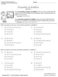 Properties of Addition Worksheets 1 and 2