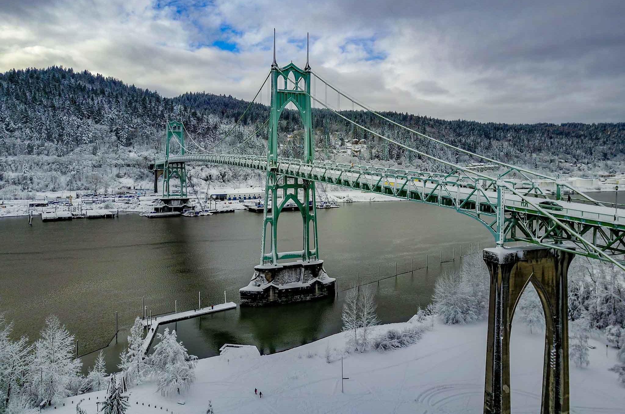 St. Johns Bridge Inspection by UAV