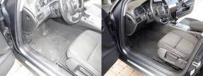 Audi-A6 Innen-Fahrer vorher-nachher - Fahrzeugpflege Massler