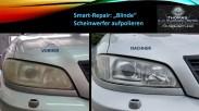 Blinde Scheinwerfer aufpolieren per Smart-Repair von Fahrzeugpflege Massler
