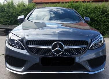 Mercedes C-Coupé mit Servfaces Ultima und Suave versiegelt von Fahrzeugpflege Massler