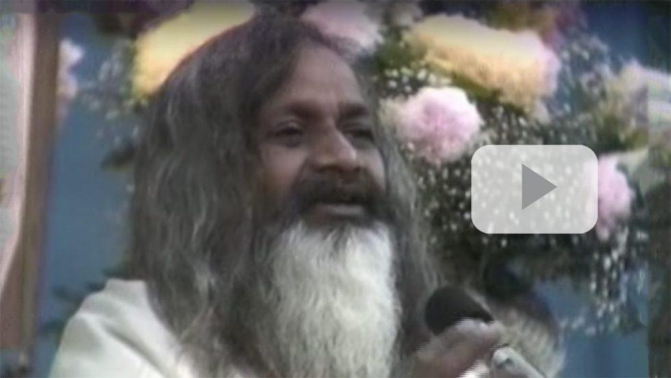 Video screenshot: Maharishi Mahesh Yogi speaks about relationships