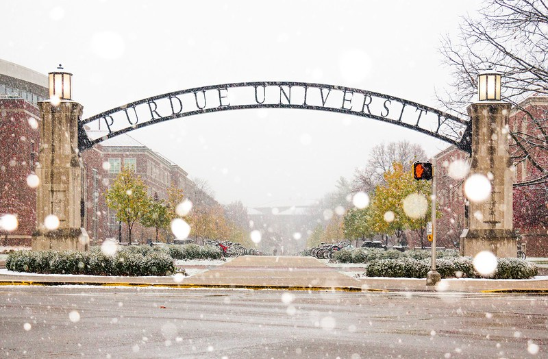 Image result for purdue snow