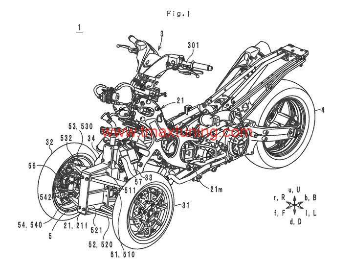 Yamaha T Max a tre ruote