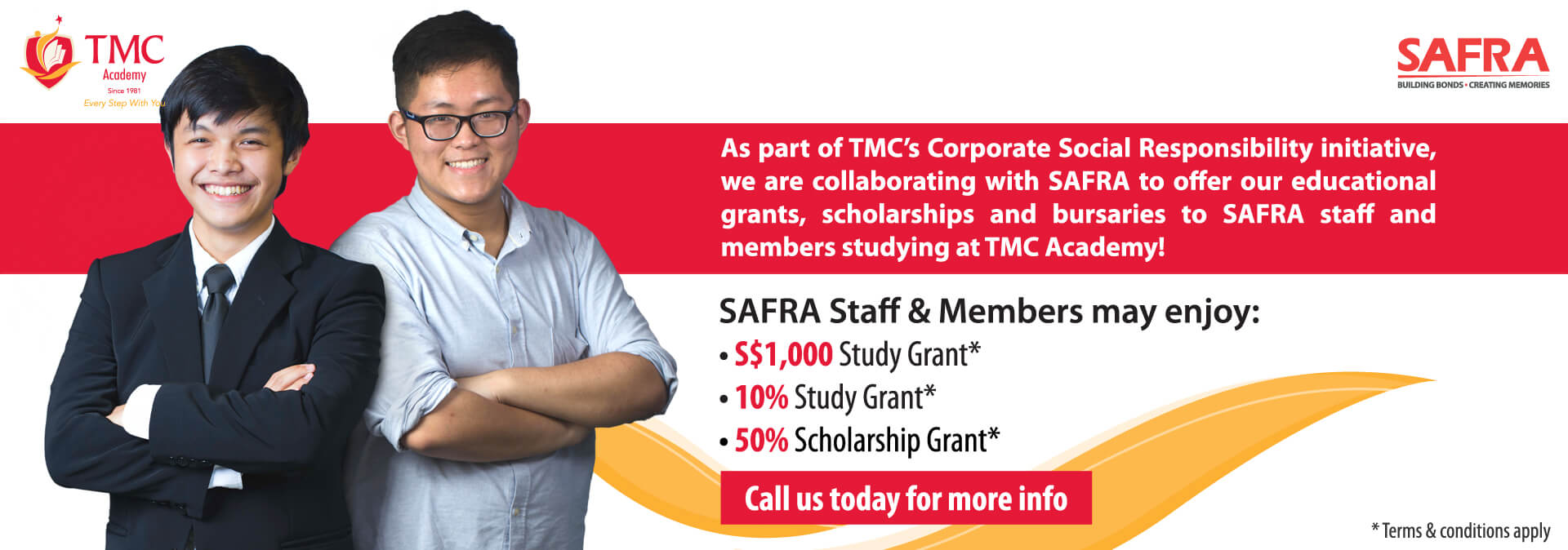 SAFRA Collaboration Banner 2018 @ TMC Academy