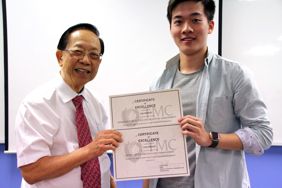 TMC Academy Cai Haolei Higher Diploma in Hospitality and Tourism Management