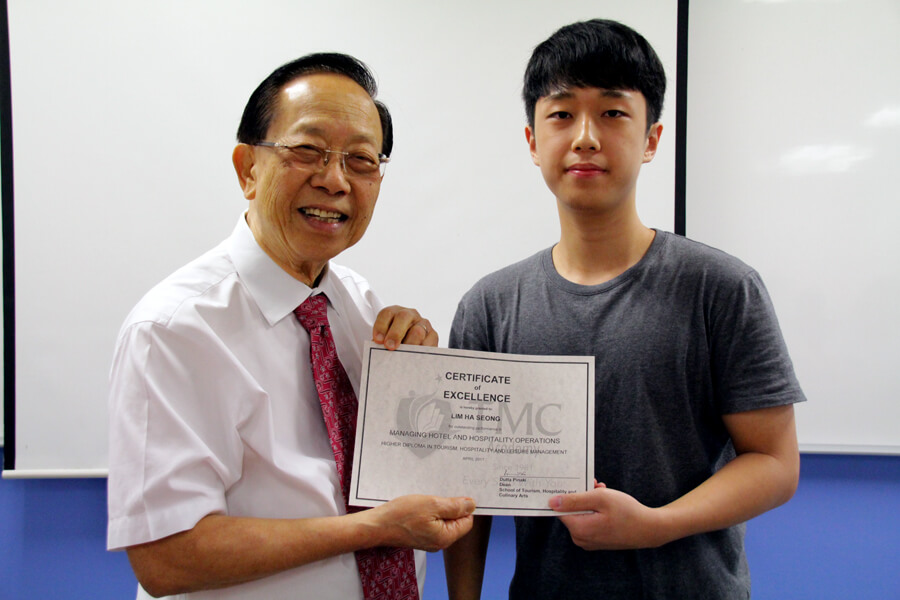 TMC Academy Lim Ha Seong Higher Diploma in Tourism Hospitality and Leisure Management