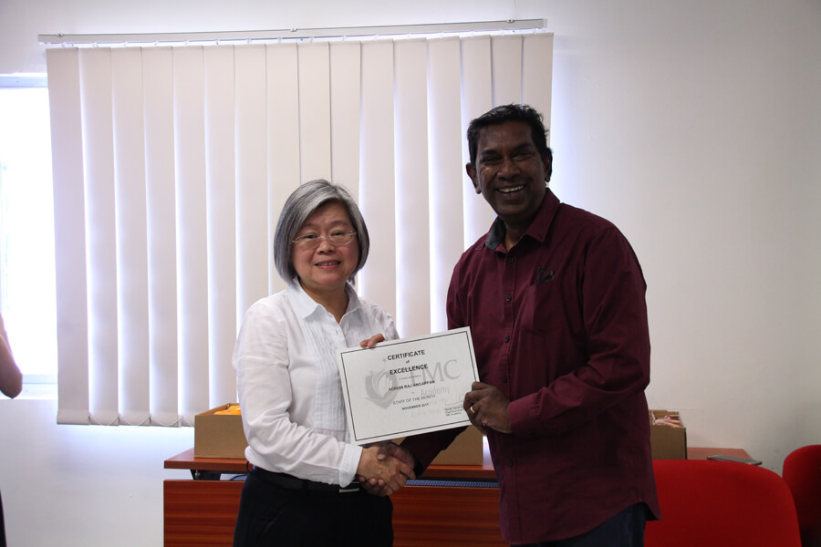 Award of the Month - Mr. Adrian Raj