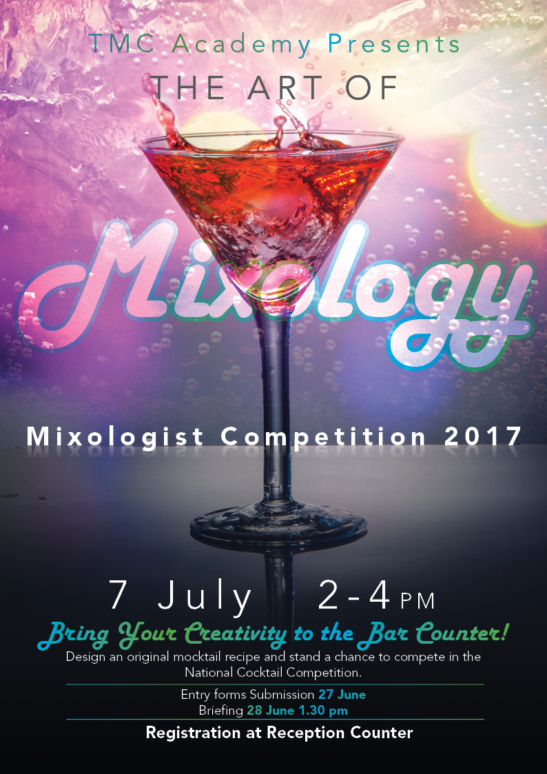 Mixologist Competition 2017 Poster - TMC Academy