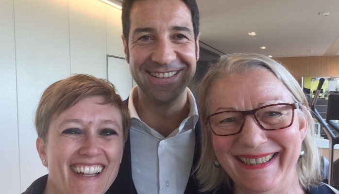 Luigi Angelini (Wellness Foundation), Lara Sandre (Palacongressi di Rimini) and Johanna Fischer (tmf)