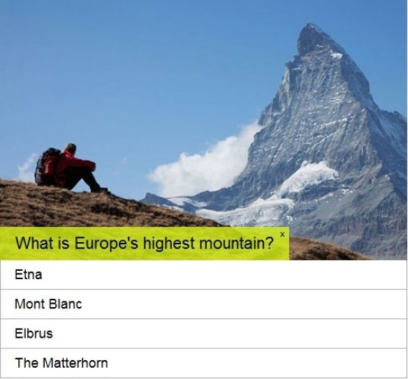 Geography Quiz ©Telegraph Media Group Limited