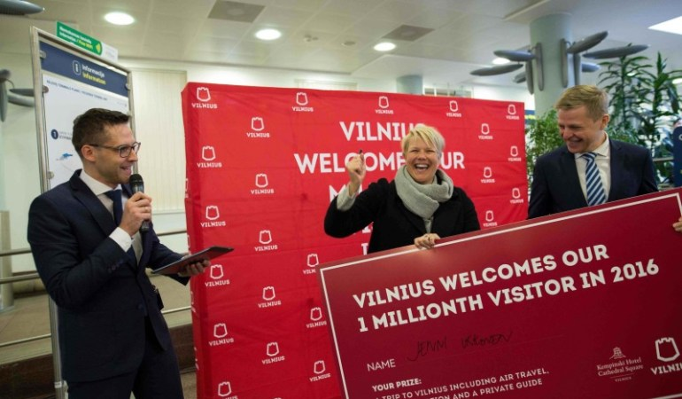 Vlnius welcomes its one millionth visitor ©Go Vilnius