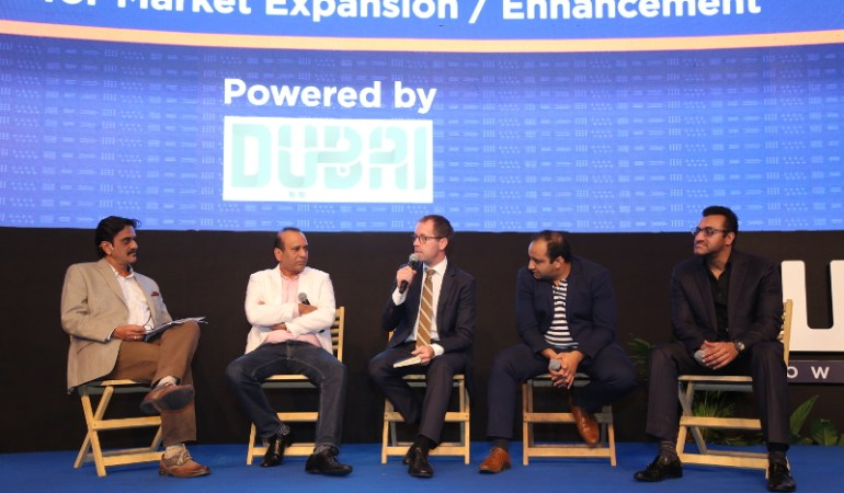 Panel discussion facilitated by Dubai Convention Bureau; Director Steen Jakobsen (middle) ©tmf India