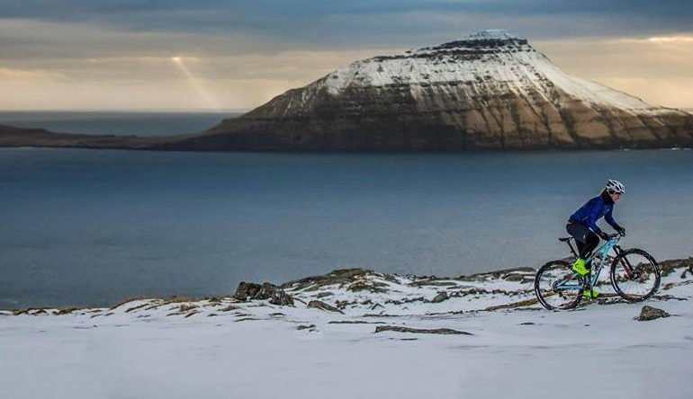 Pedalling through Faroe Islands