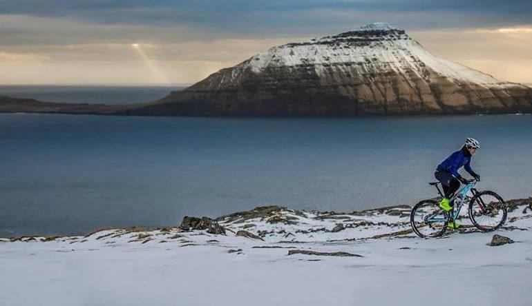 Pedalling through Faroe Islands
