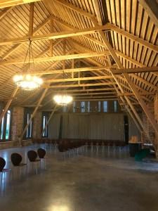 Event location - barn at Mazmežotne