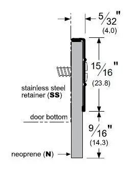 High Quality Stainless Steel Door Bottom Sweep with