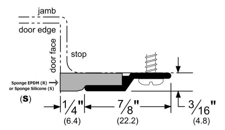Aluminum or Bronze Door Gasket with Choice of Seals, for