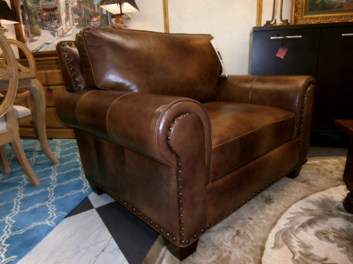 steve silver leather chair at the