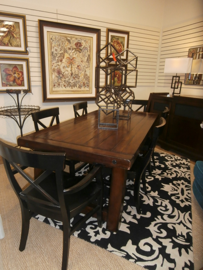 pottery barn dining table chairs at