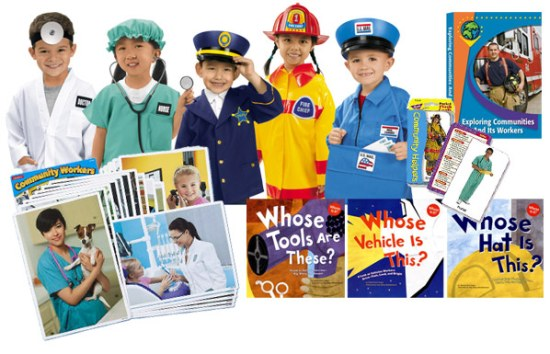 Sample inventory for Kindergarten's My Community's Faces & Places learning trunk