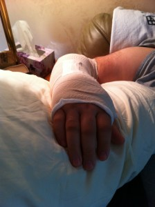 busted wrist