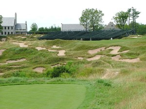 "Whistling Straits bunkers--very close to ""the barn"""