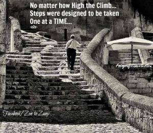 """""""No matter how high the climb... Steps were designed to be taken One at a Time..."""""""