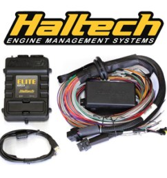 haltech elite 1500 dbw ecu with mitsubishi 4g63 fully terminated harness kit suits 1g cas ev1 flying lead ignition harness ht 150930 [ 1024 x 1024 Pixel ]