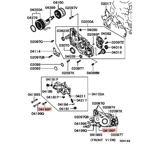 1997-1999 Mitsubishi Eclipse Camshaft Position Sensor Bolt