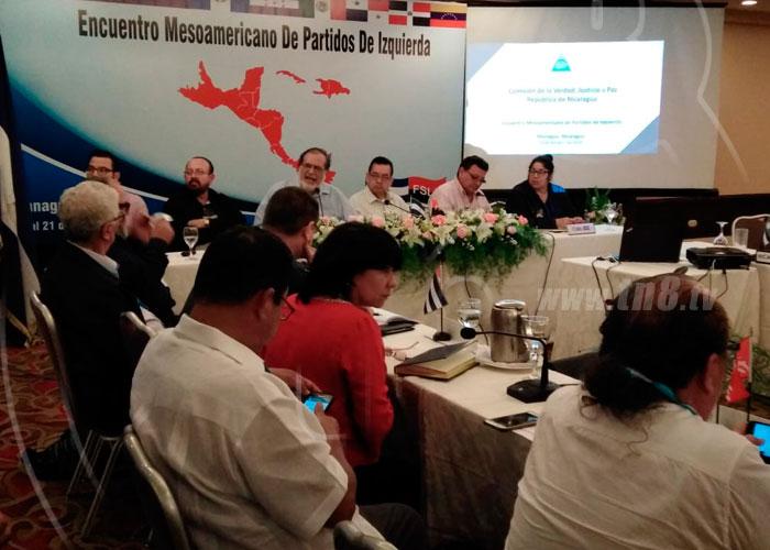 Comisión de la Verdad, Justicia y Paz se reúnen con delegados de los partidos de izquierda de Mesoamérica y El Caribe