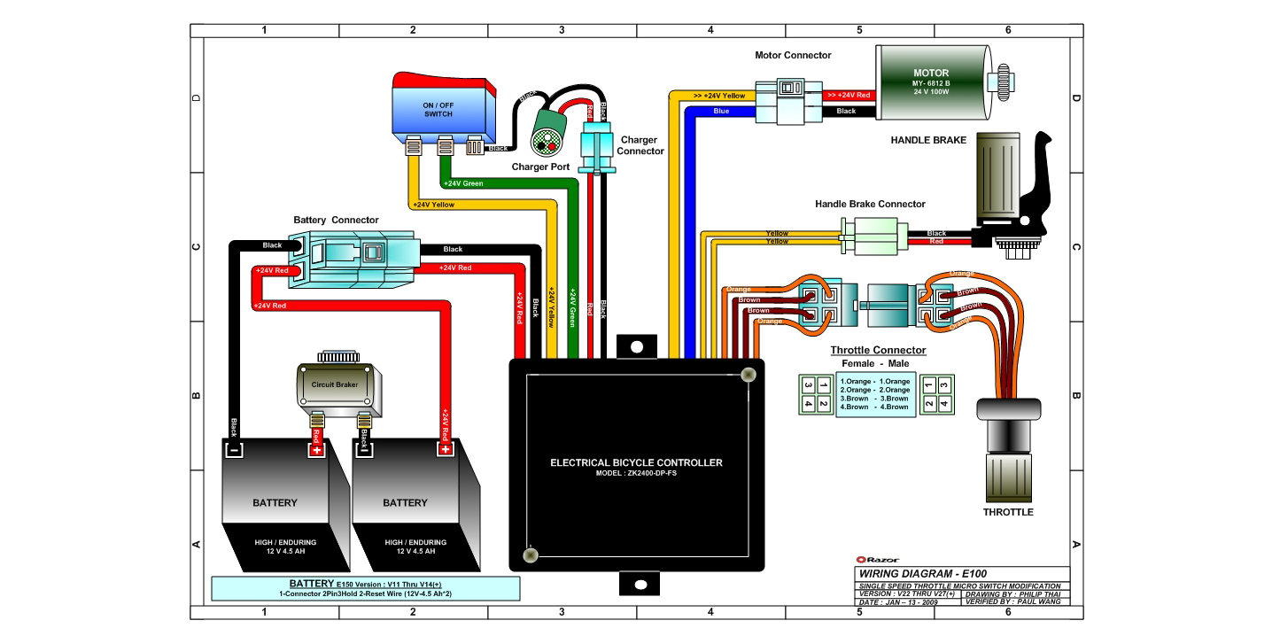Wiring Diagram Together With Razor Scooter Wiring Diagram On Wiring
