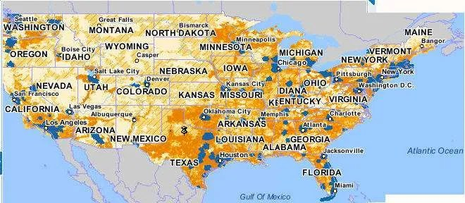The full map of AT&T 3G coverage