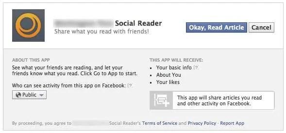 Facebook Social Reader