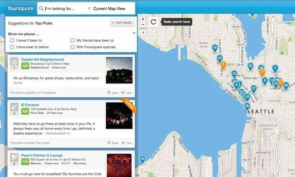 Foursquare Shifts To Search