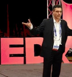 Tristan Louis speaking at TEDx