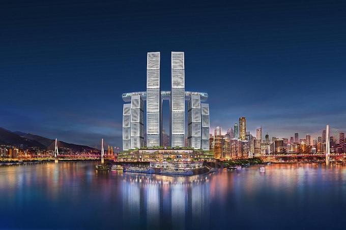 Raffles City Chongqings impressive sky bridge to open