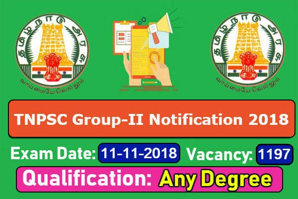 TNPSC Group 2 Notification 2018-2019