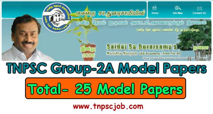 Saidai IAS Academy's TNPSC Group 2A Model Test Series