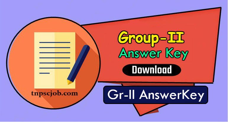 TNPSC Group 2 Answer key 2018