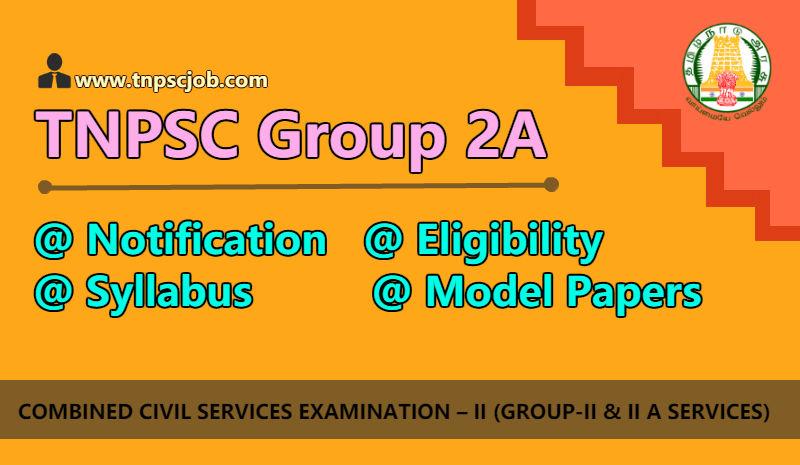 TNPSC Group 2A Notification 2019
